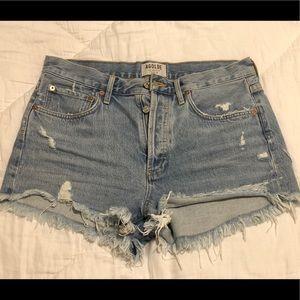 Agolde Parker Denim Shorts - Swapmeet color